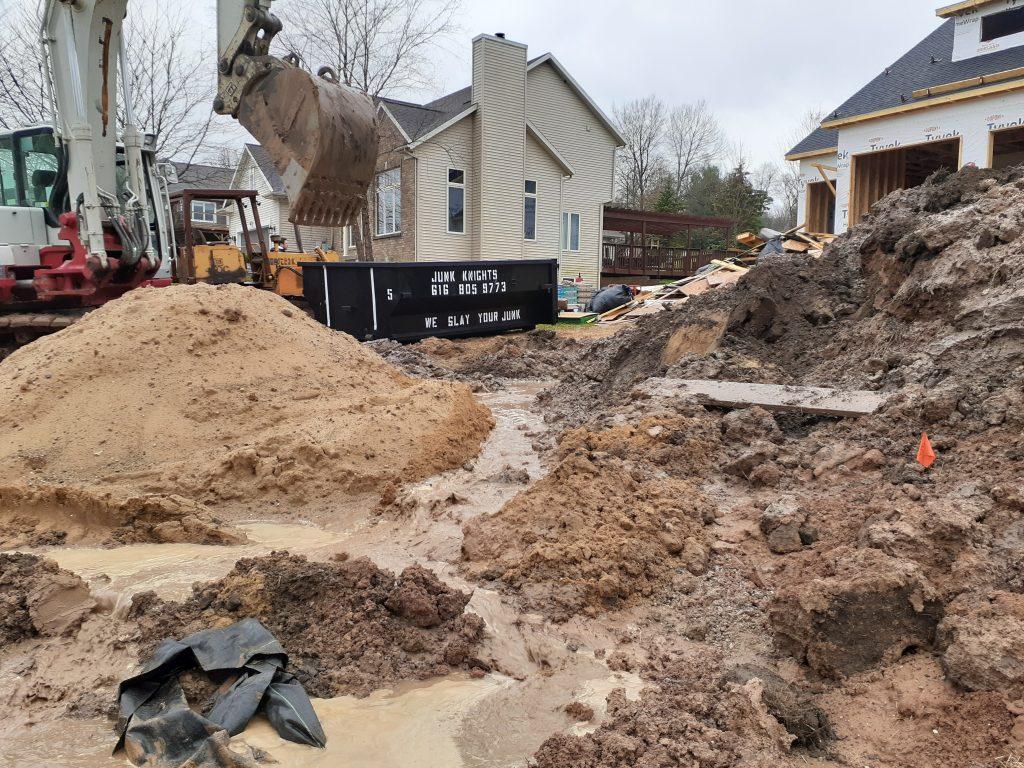 Construction Site Dumpster