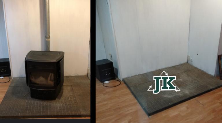 Remove wood stove